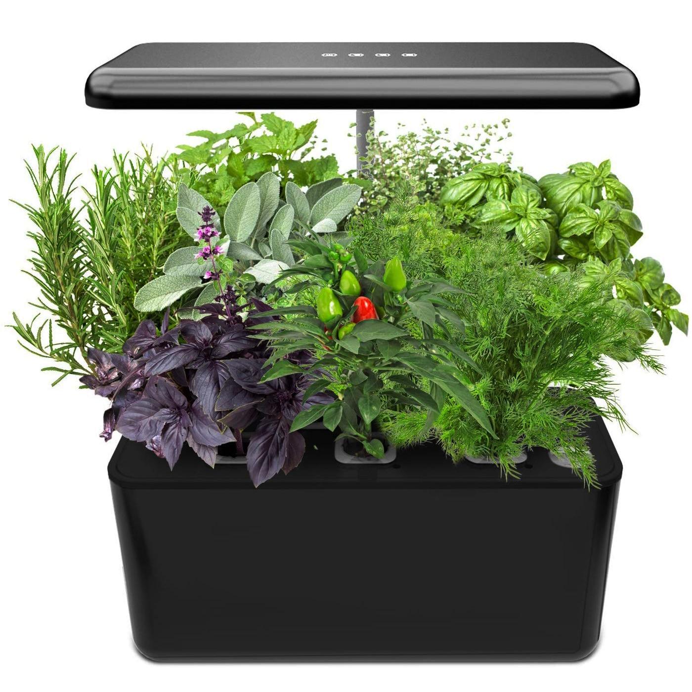 Hidroponia que cresce o sistema, jogo interno do acionador de partida do jardim da erva com diodo emissor de luz cresce a luz, plantador esperto do jardim para a cozinha de casa, automático|Vasos|   -