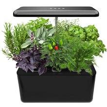 Система гидропоники для выращивания, домашний садовый стартовый набор для трав со светодиодсветильник кой, умный садовый плантатор для дом...