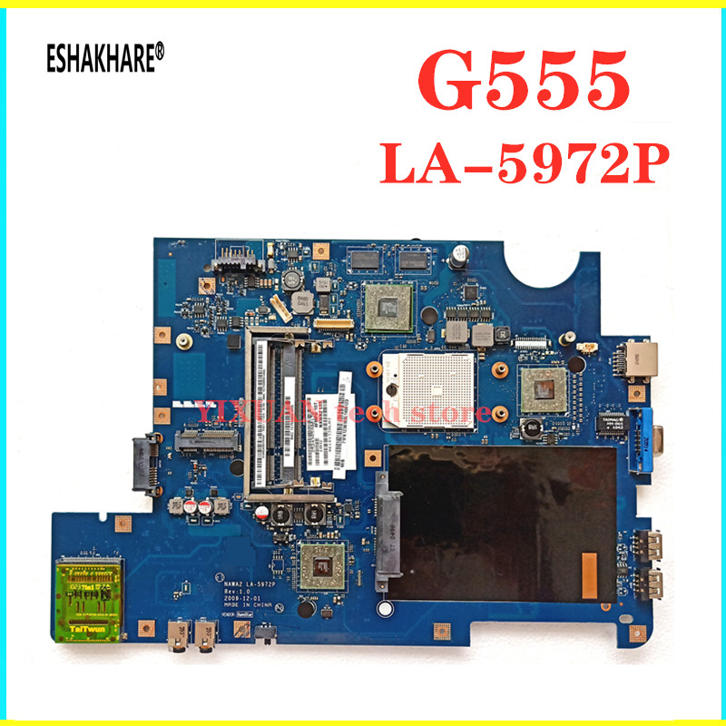 LA-5972P for lenovo G555 G555 laptop motherboard NAWA2 mainboard 100/% TESTED