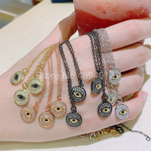 10Pcs,Women Necklace,Fashion Jewelry, CZ Setting,Pop Charms, Small Eyes Design, 4colors Can Wholesale