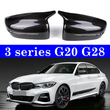 3 Series G20 G28 LHD Replacement Style Carbon Riearview Mirror Cover Caps 1 Pair