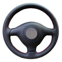 Künstliche Leder Schwarz Lenkrad Abdeckung Für Volkswagen VW Golf 4 Passat B5 1996 2003 Seat Leon 1999 2004 Polo 1999 2002