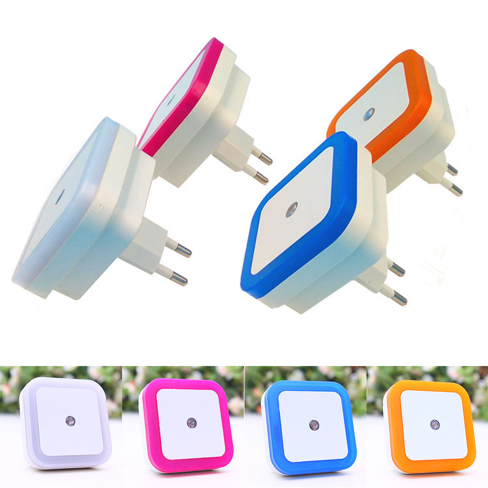 LED Night Light Mini Light Sensor Control 110V 220V EU US Plug Nightlight Lamp For Children