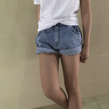 Summe Korean Style Casual Shorts Jeans Summer Hot Short Pants Curling Shorts Denim Casual Shorts High Waist Denim Shorts фото