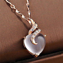 Romantic Sweet Crystal Pendant Female Clavicle Rose Gold Thin Chain Turkish Fashion Jewelry Without Necklace(China)