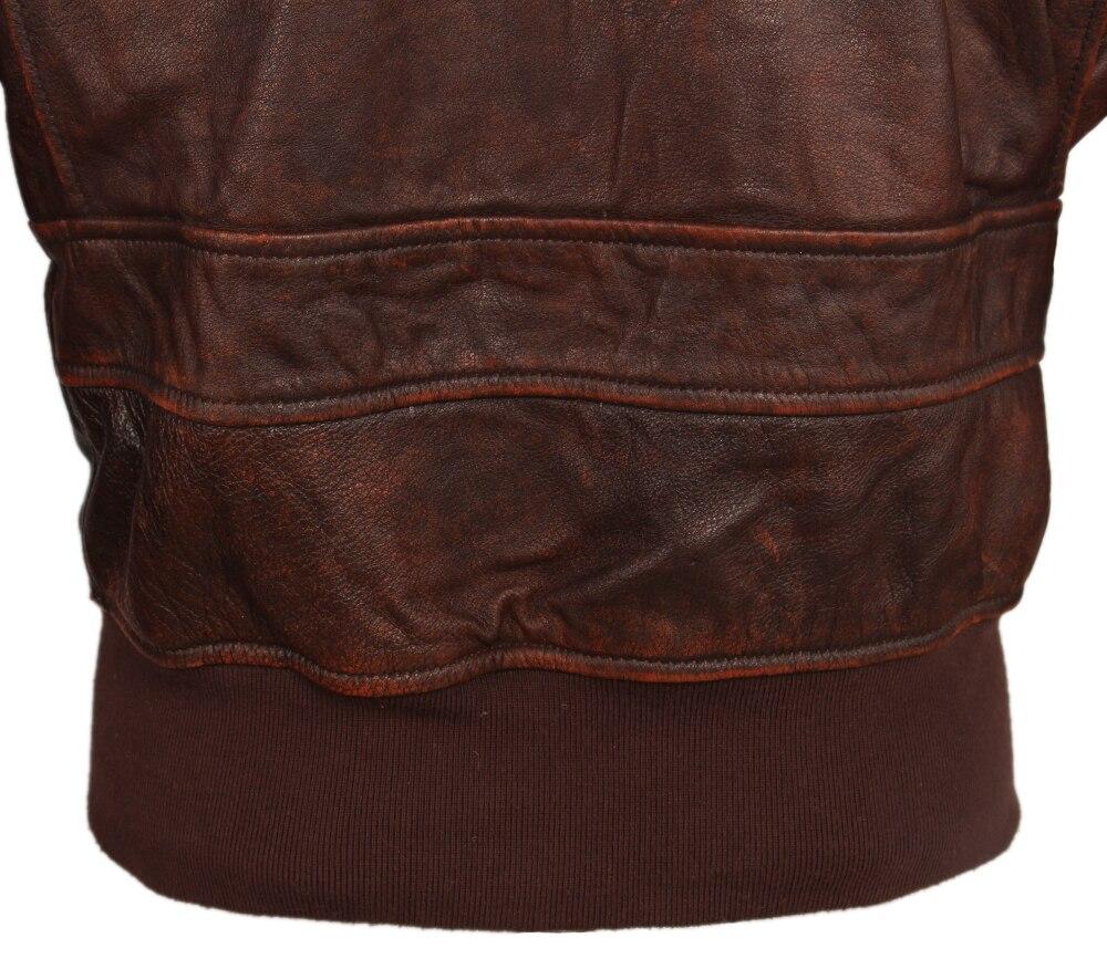 Hbec9735ed3034f3aa27e21dec54ed14f9 Vintage Distressed Men Leather Jacket Quilted Fur Collar 100% Calfskin Flight Jacket Men's Leather Jacket Man Winter Coat M253