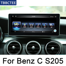 For Mercedes Benz C Class S205 2014-2019 Car Android System 1080P IPS LCD Screen Car Radio Player GPS Navigation BT WiFi AUX octacore android 8 0 4 32gb 10 25 ips screen car dvd player gps navigation for mercedes benz c glc gls w205 glc x253 2014 2017
