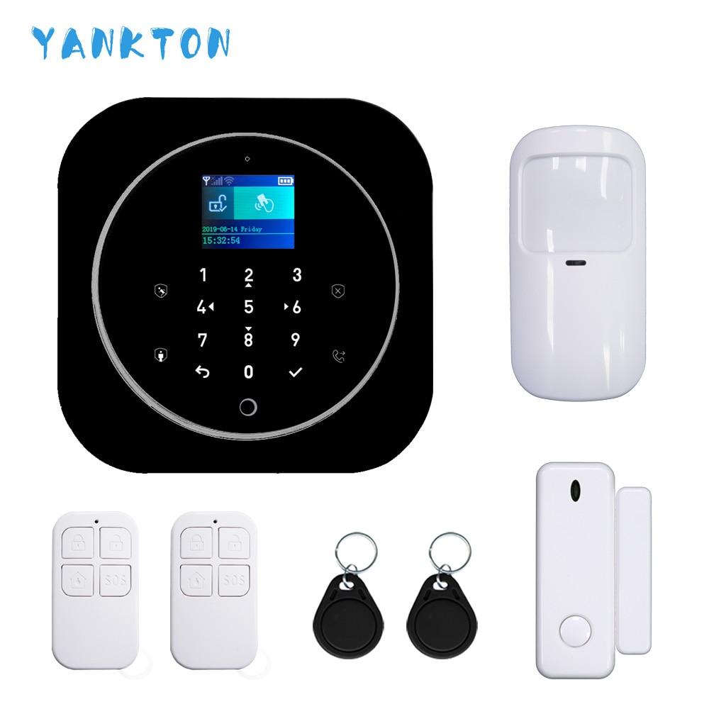 Wifi gsm sistema de alarme para android & ios tuya alarme 433 mhz sem fio em casa alarme de segurança do assaltante tft lcd toque teclado 11 idiomas