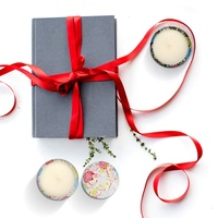 Aromatherapy Candles Kit Natural Soy Wax Smokeless Scented Candles Travel Tin Candles For Stress Relief