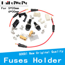 10PCS/lot 5*20MM 6*30MM Glass Tube Fuse Holder Quick Blow Durable Fuse with Wire Screw Cap Case 5x20mm 6x30mm Insurance