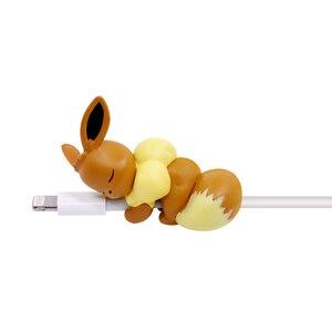 Image 3 - CHIPAL חמוד ביס בעלי החיים המותח כבל עבור iPhone USB נתונים כבל מגן חוט ארגונית Chompers קריקטורה עקיצות בובת דגם מחזיק