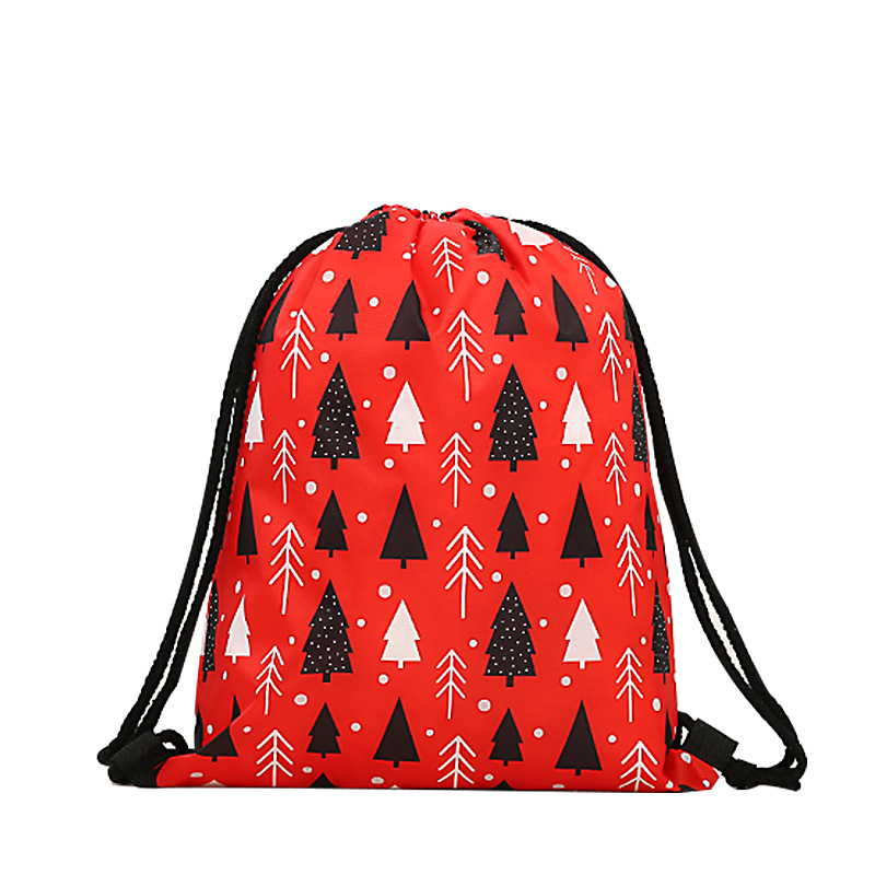 Fashion Drawstring Bag Men Unisex Printing Mochila Feminina Backpack Women Daily Casual 3d Christmas Bgas Bundle Pocket Rope