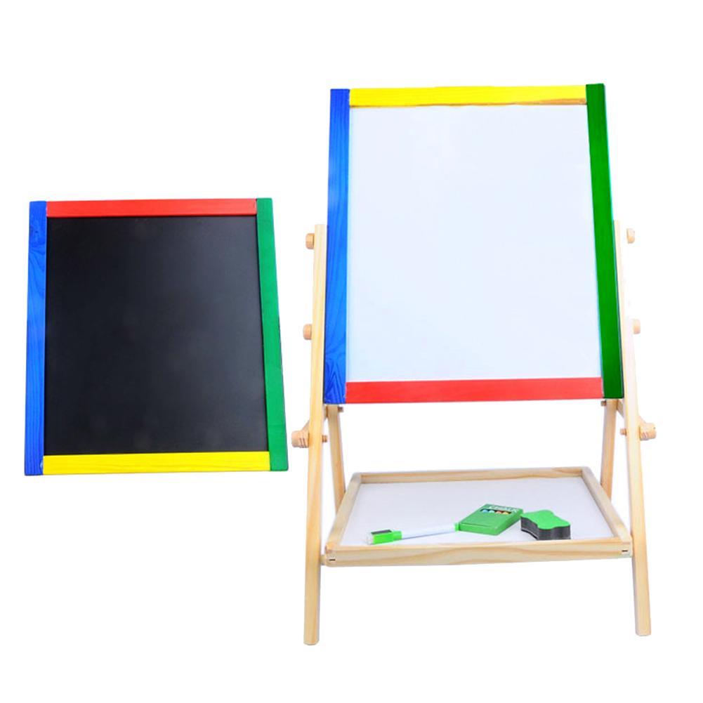 Double-Sided Magnetic Wooden Standing Drawing Writing Board Kid Wooden Blackboard 2 Styles Magnetic Wooden Drawing Board