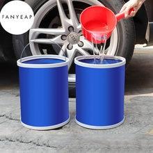 Espessamento portátil dobrável balde de acampamento ao ar livre balde de pesca recipiente de armazenamento carro lavagem carro mop balde limpeza ferramentas # g7