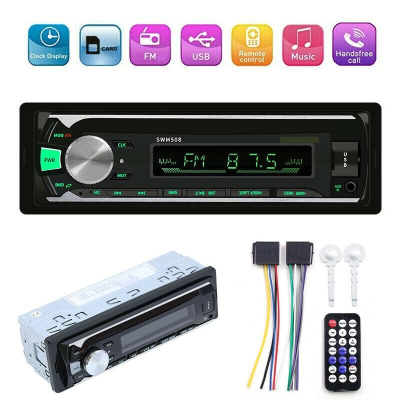 Bluetooth Vintage Car Radio MP3 Player Stereo USB AUX Classic Car Stereo