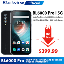 Blackview Dimensity 800 Mt6873 BL6000 Pro 5G Smartphone 256GB 8GB WCDMA/LTE/GSM/.. Nfc
