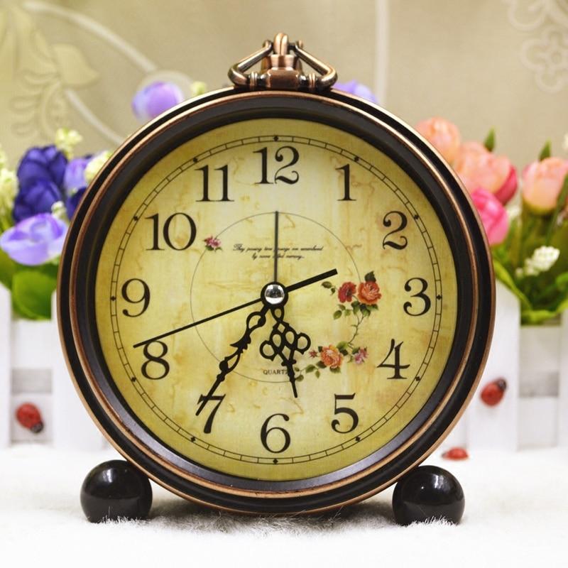 Vintage Metal Alarm Clock Electronic Desktop Digital Table Clock European Pointer SEIKO PYXIS Light Control LED Display