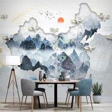 Milofi new Chinese style Chinese map ink landscape landscape painting TV background wall