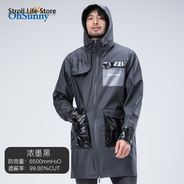 Adult Outdoor Hiking Long Windbreaker Raincoat Waterproof Rain Poncho Sunscreen Rain Jacket Gabardina Hombre Men Gift Ideas 5