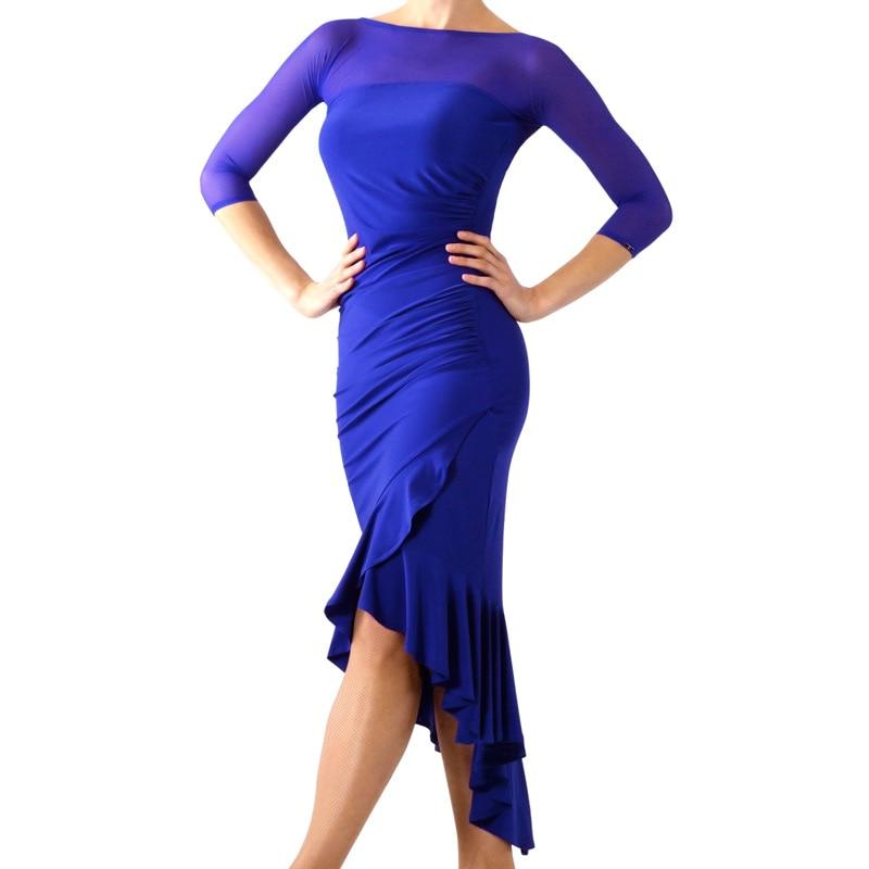 New Latin Dance Dress Royal Blue Dress Party Outfit Women Dance Dress Ballroom Dance Competition Dress Tango Dress Adult Costume