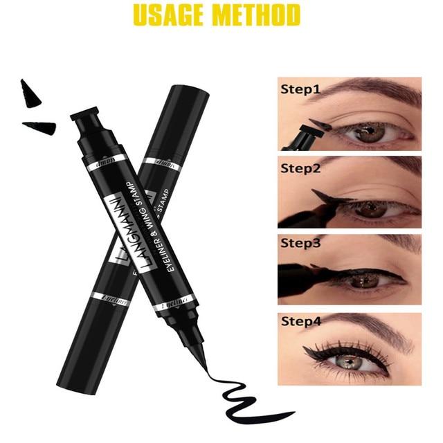 Liquid Eyeliner Pencil Double-headed Makeup Long Lasting Sexy Waterproof Quick Dry Eyeliner Pen Stamp Big Eye Cosmetics TSLM1 1