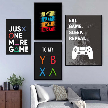 Video Game Wall Art Painting Game Room Decoration Poster and Print Abstract Quality Cartoon Posters Art Decor Canvas Painting 1