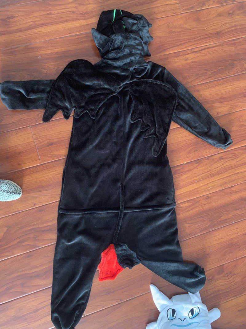 How to Train Your Dragon Toothless Anime Kigurumi Women Winter Flannel Animal Onesie Cute Cosplay Sleepwear Jumpsuit Pajamas