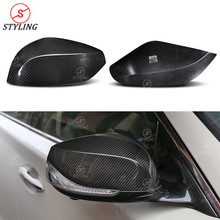 Q60 Dry Carbon mirror cover For Infiniti QX30 Q50 Q70 Rear Side View cap Mirror Cover add on style 2014 2015 2016 2017 2018 2019 carbon fiber side wing mirror covers for porsche panamera 970 2010 2014 2015 2016 add on style rear view mirror cover only lhd