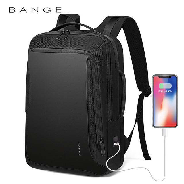 Bange 15.6 inch Laptop Backpack For Men Water Repellent Functional Rucksack with USB Charging Port Travel Backpacks Male 2