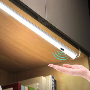 Hand Wave Control Kitchen Lights LED Bar Light Closet Wardrobe Bar LED Lamp 30/50cm Motion Sensor Hand Scan Sweep Kitchen Lights(China)