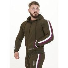 GYM WINER Mens Sportwear Suit Sweatshirt Tracksuit Leisure sets Zipper Outwear 2PC Hooded sweater+Pencil pants Sets Men