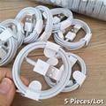 5 шт./лот TPE для передачи данных кабель для зарядки для iPhone 11 PRO X XS MAX XR 5 5S SE 6 6S 7 8 Plus iPad Mini Air 2 зарядное устройство Шнур