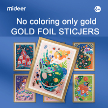 Mideer 8Pcs/Set Gold Foil Sticjers Pricess Diary Children DIY Handmade Paper Paste Painting Cartoon Creative Drawin Toys Kid 6Y+