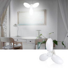 LED Bulb E27 AC85~265V Petal Lamp 45W LED Bulb 360 Degrees Adjustable Ceiling Lamp Foldable Fan Blade LED Pendent Light