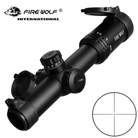 fogo lobo prata 1 4x24 ao ar livre tatico optico rifle scope airsoft caca espelho