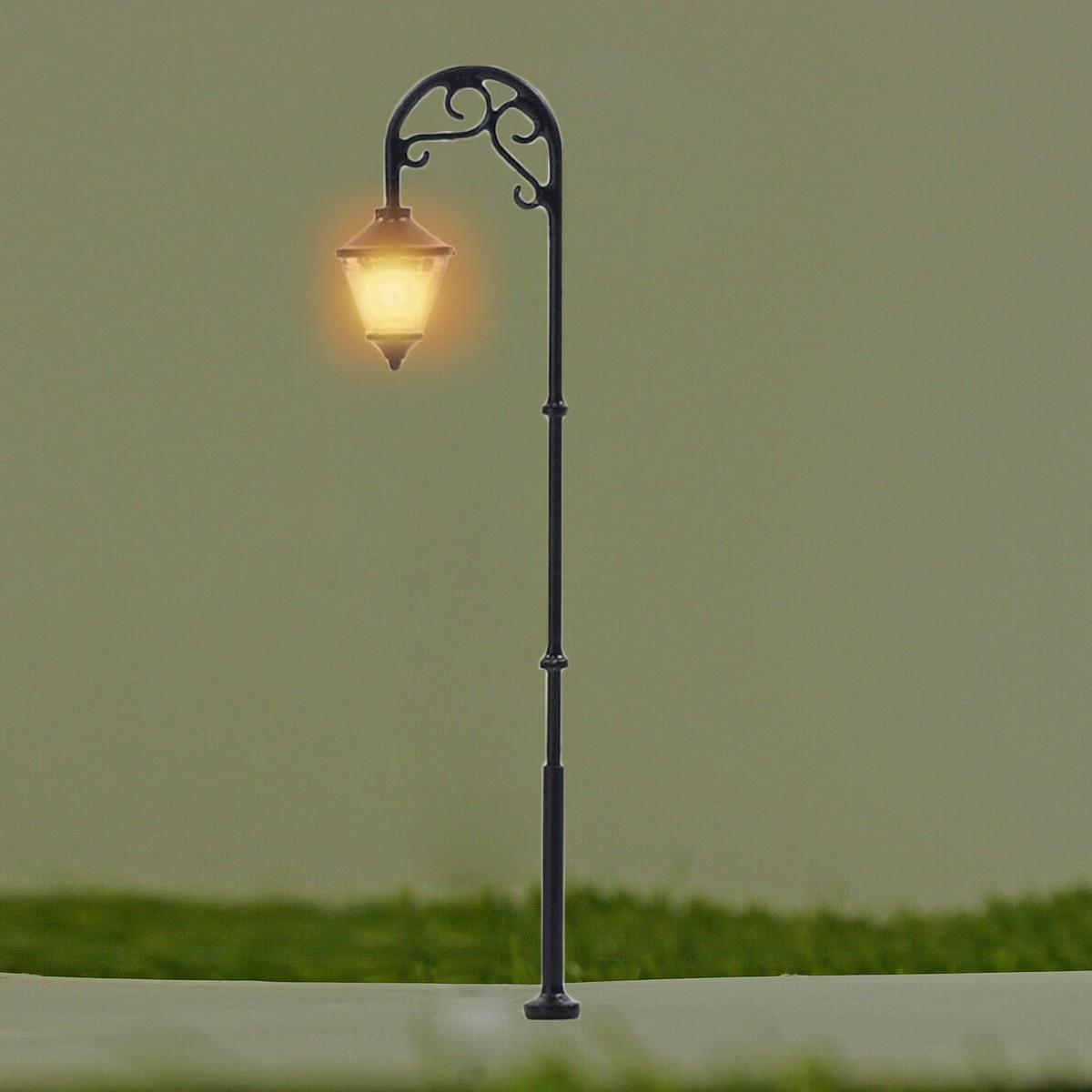 5/10 шт 187 HO ретро модели уличного фонаря Макет фонарный столб сада ландшафтный светильник железнодорожный поезд лампы Декорации для микро ландшафтного дизайна