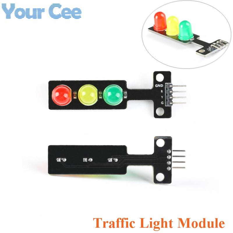 10PCS 5V Mini-Traffic Light 5mm LED Display Module Digital Signal Output Arduino