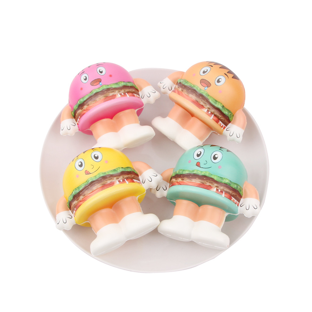 Mini Adorable Hamburger  Doll Slow Rebound Mini Color Burger Simulation Toy Kids Stress Reliever Decompression Toy L103