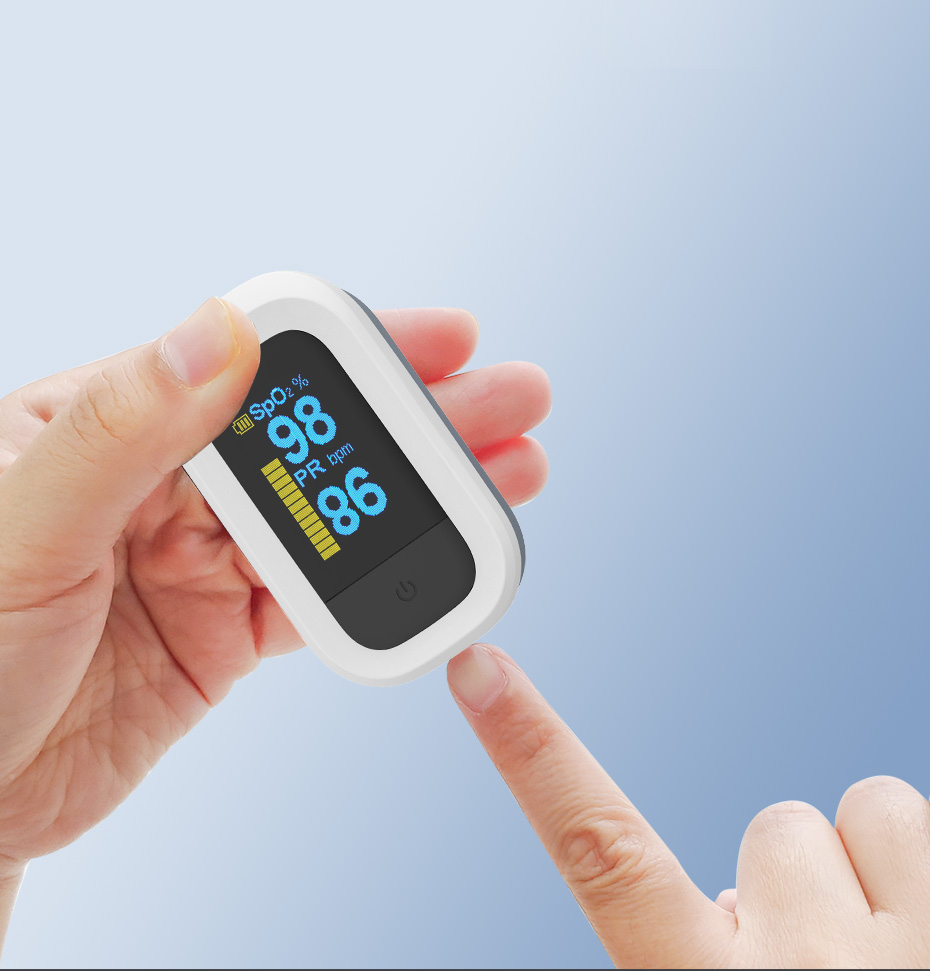 Yongrow Medical Household Digital Fingertip pulse Oximeter Blood Oxygen Saturation Meter Finger SPO2 PR Monitor health Care CE 1