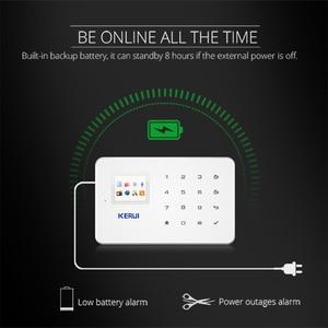 Image 3 - Kerui G18 Встроенная антенна сигнализация PIR детектор движения Беспроводной дыма вспышки Siren ЖК дисплей GSM sim карты дом охранной сигнализации Системы