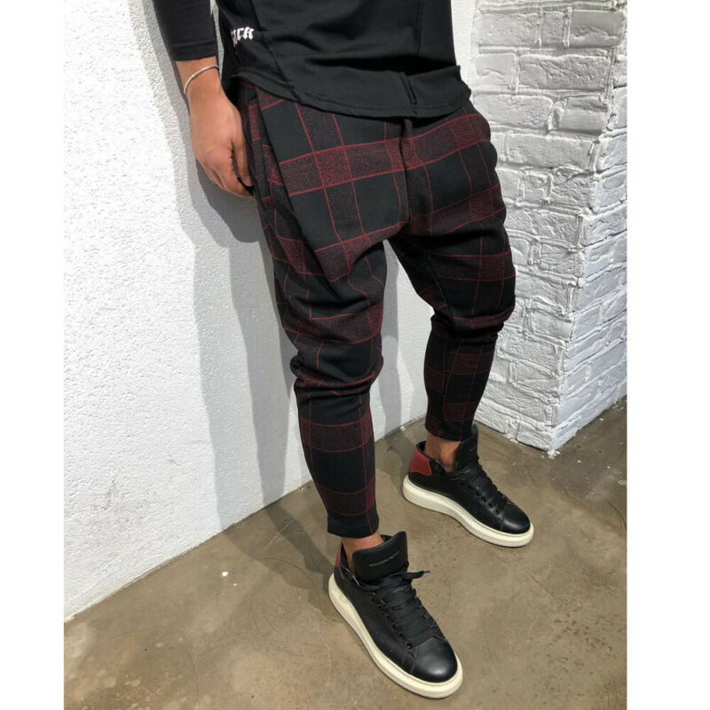 Men Long Casual Sport Long Pants Gym Slim Fit Trousers Running Joggers Fashion New Pants Size M-3XL