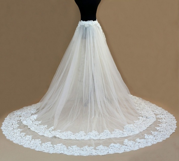 Wedding Accessories 2 Layer Detachable Train ,white Detachable Bridal Train, Cathedral Wedding Train, Lvory Removable Bridal Tra