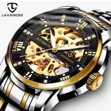 Lavaredo Top Brand Luxury Retro Stainless Steel Men Watch Sport waterproof  Automatic Mechanical Skeleton Watches Cool Design A5