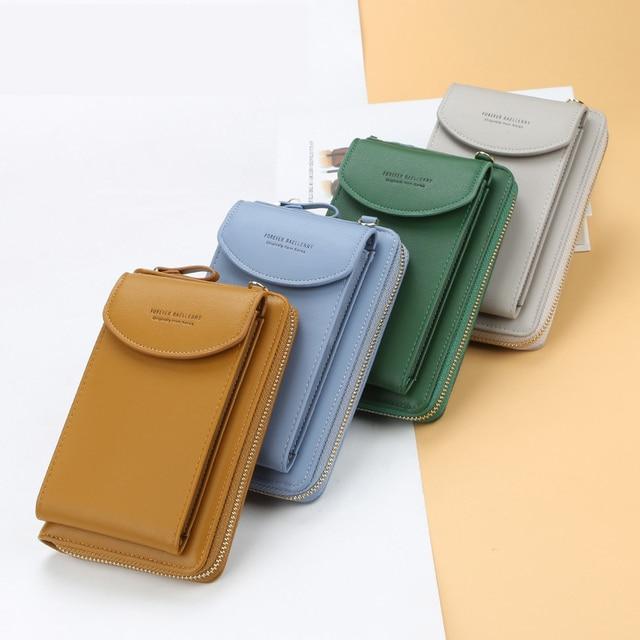 2021 Women Wallet Famous Brand Cell Phone Bags Big Card Holders Handbag Purse Clutch Messenger Shoulder Long Straps Dropshipping 3