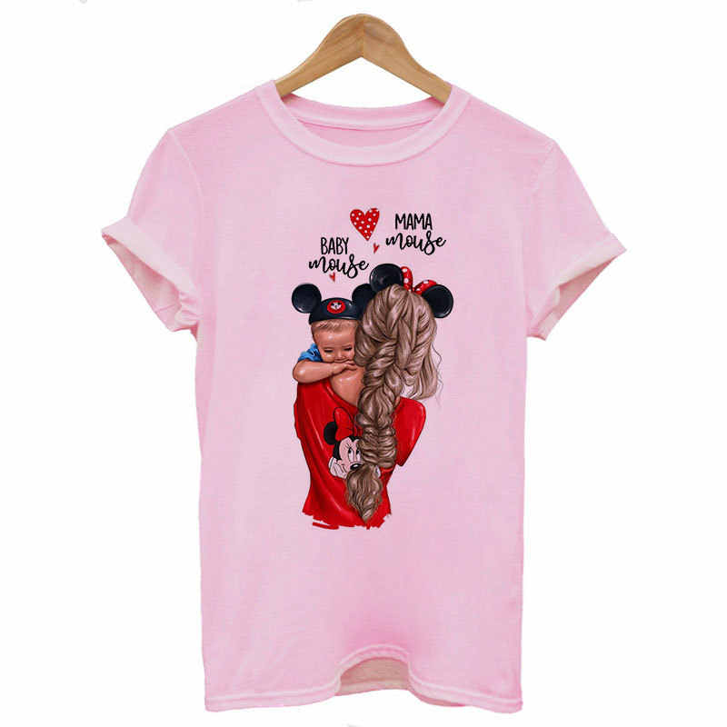 2019 新しい女性 Tシャツカジュアル原宿ママと赤ちゃん印刷 Tシャツトップス夏の女性の Tシャツ半袖 Tシャツ女性のための服