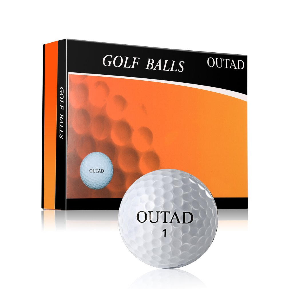 Golf-Balls Indoor Practice-Safe for 12pcs OUTAD Ultra-Light Synthetic-Rubber Non-Toxic title=