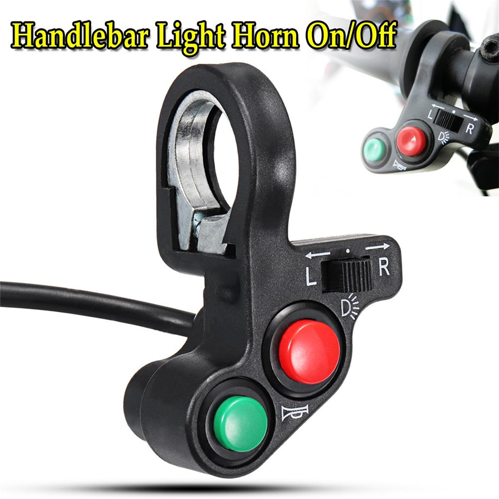 22mm Motorcycle ATV Bike Bicycle Horn Indicator Handlebar On Off Control Switch Turn Signal Light Motorbike Accessories
