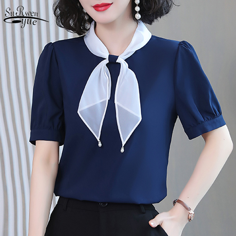 2019 Spring Fashion Chiffon Blouse Shirt Long Sleeve Fashion Office Lady Womens Tops And Blouses Women S Shirts Tops 2085 50 Leather Bag