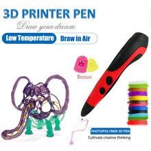 Pluma 3D con 15 colores 48 metros pluma de impresión de filamento PLA soporte ABS y PLA niños Diy pluma de dibujo con pantalla LCD