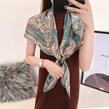 2020 New Mulberry silk Scarf Women 's 110cm Silk All -match Large Square Unique Color Matching